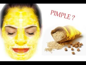 use gram flour mask for acne problem