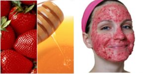 starwberry and honey pack for acne