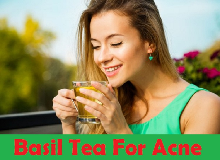 basil tea for acne..